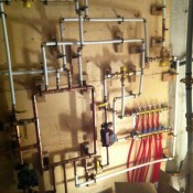 main loop and secondary loop for hydronic heating