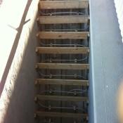 stairs snow melt